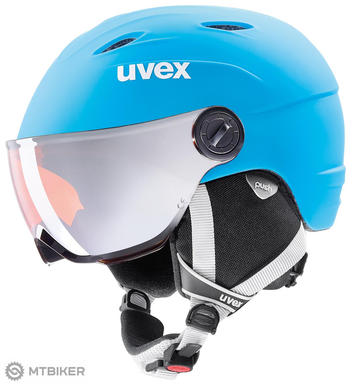 aa0d7516f UVEX Junior Visor Pro Liteblue/white mat lyžiarska prilba - MTBIKER Shop