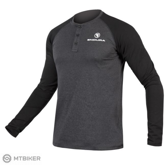 Endura One Clan Henley Raglan L/S tričko šedé