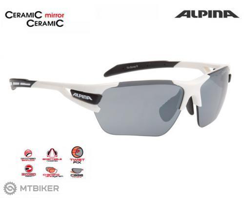 Alpina okuliare TRI-SCRAY bielo-čierne - MTBIKER Shop 73a393ae170