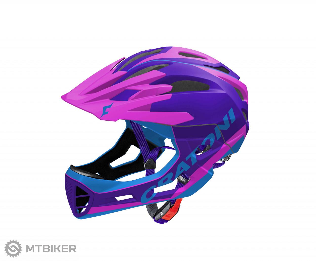 Cratoni C-MANIAC Pro - Purple-Pink-Blue matt, model 2020