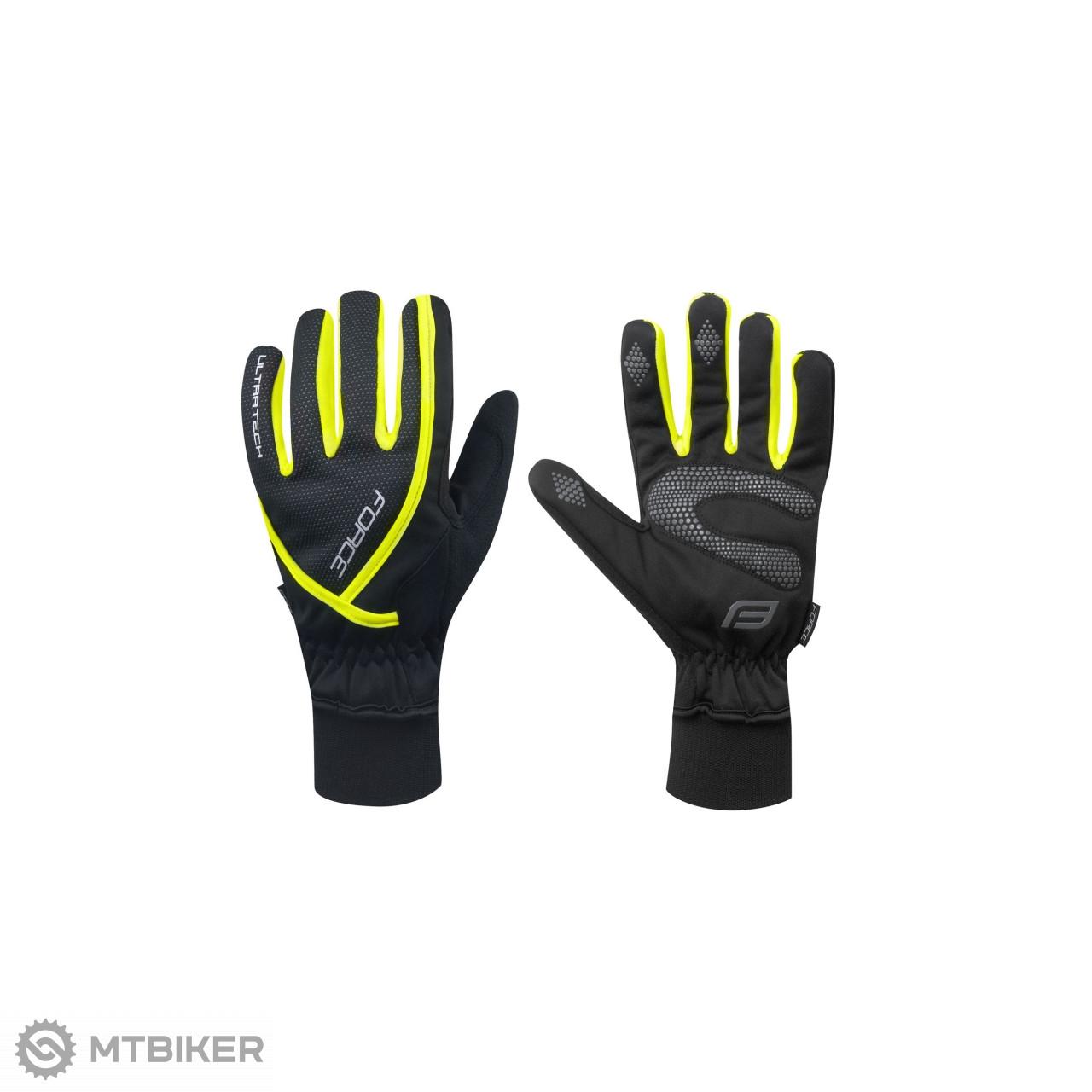 Force zimné rukavice ULTRA TECH čierno-žlté