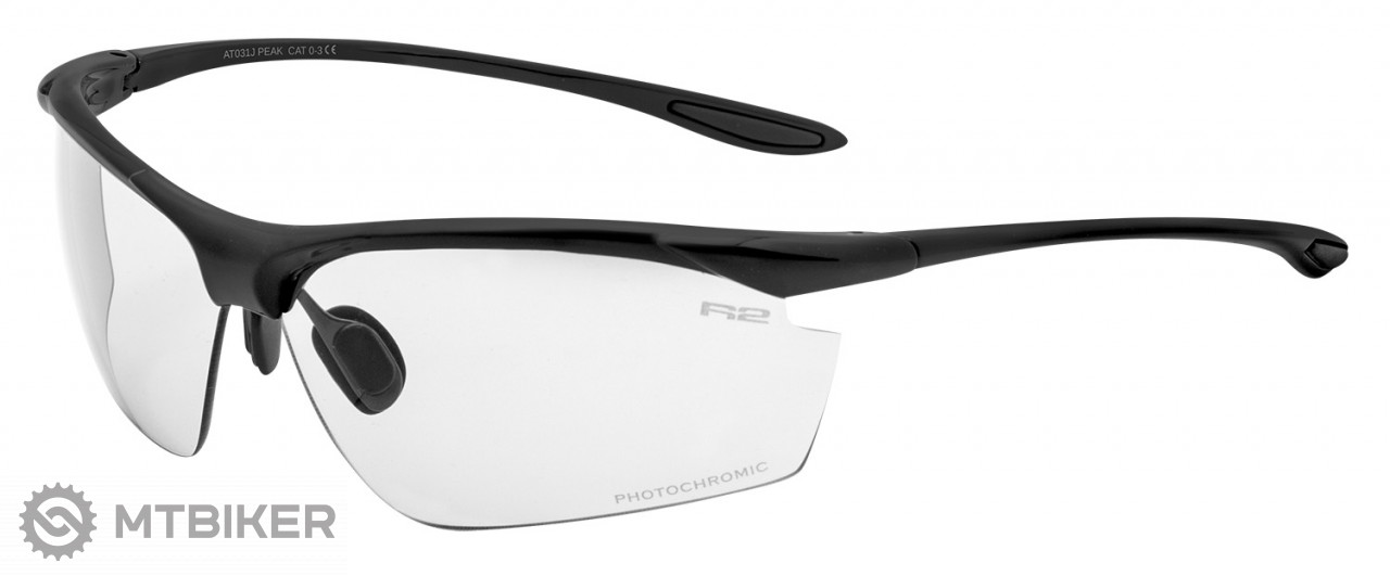 R2 Peak okuliare čierne matné   fotochromatické sklá - MTBIKER Shop e33fb0e93dd
