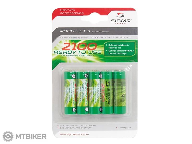 Sigma Sport nabíjacie tužkové batérie 5ks