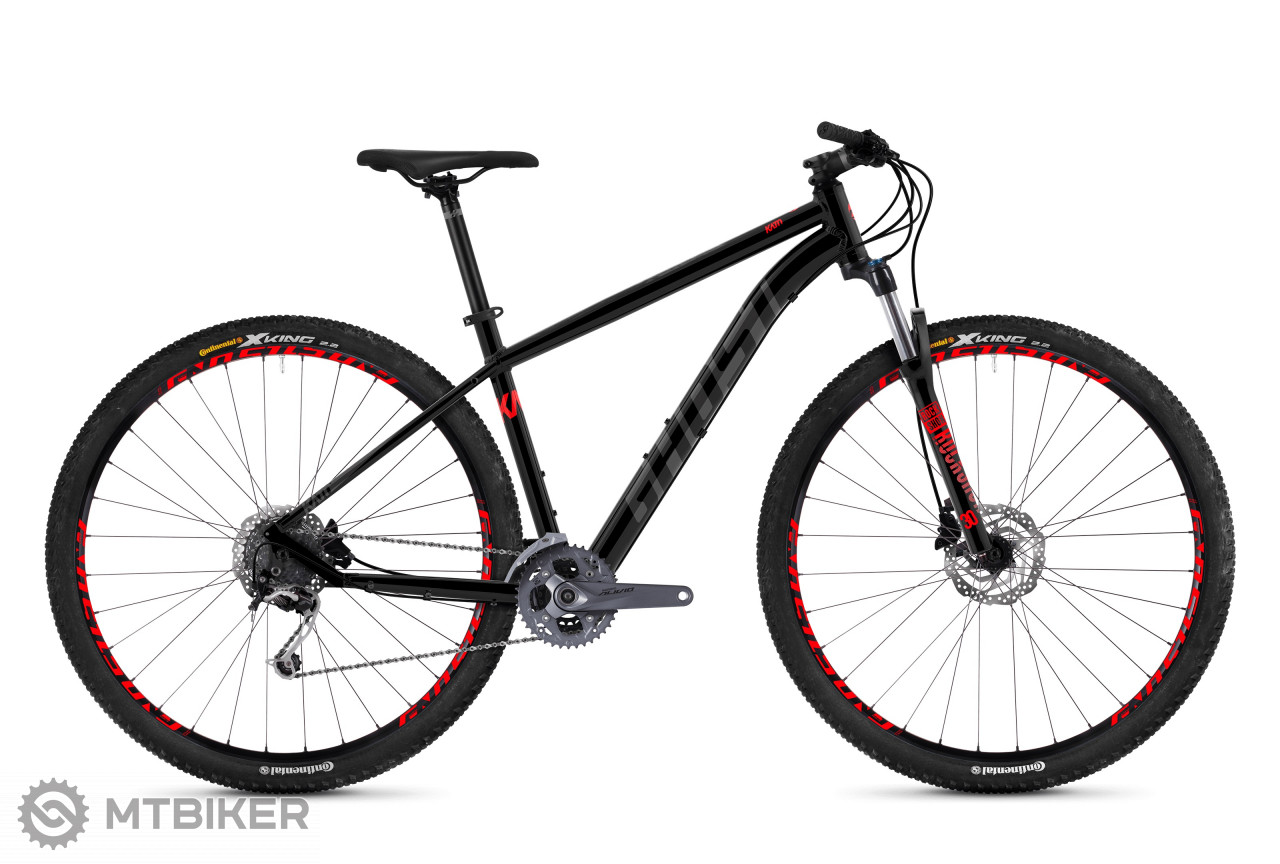 Ghost Kato 5.9 AL night black / titanium gray / riot red, model 2019