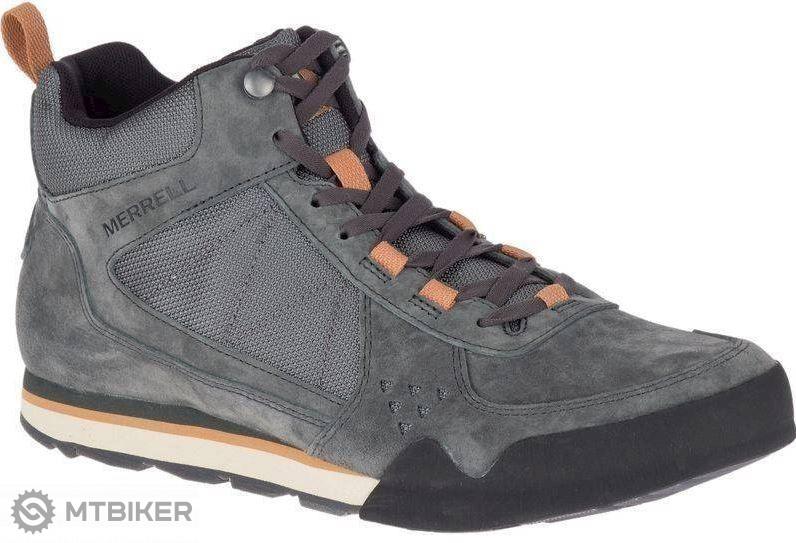 Merrell BURNT ROCK TURA MID SUEDE J95221 pánska obuv granite ... 10b9941f175