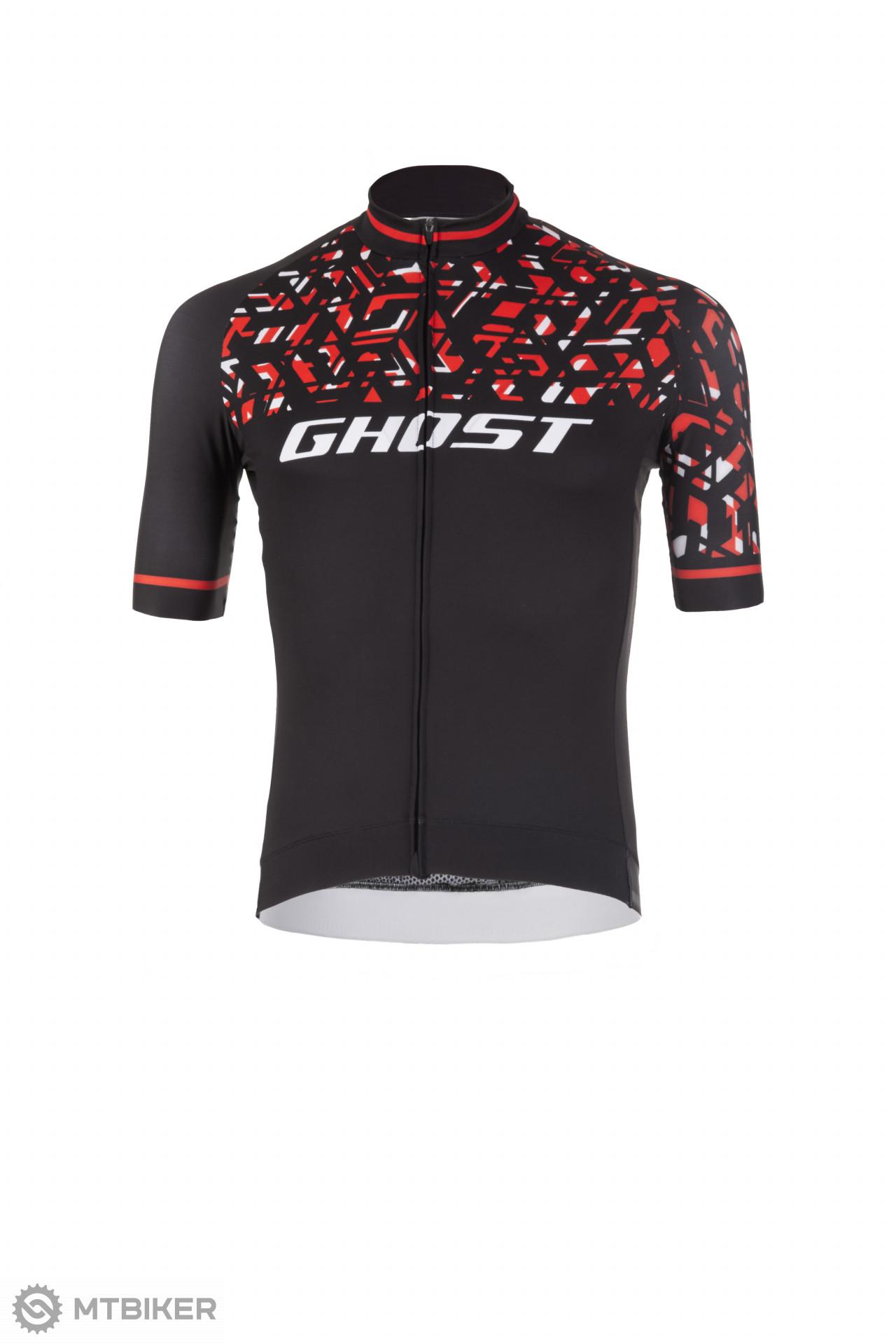 Ghost Dres / Jersey Factory Racing Short čierny/ červený/ biely, model 2019