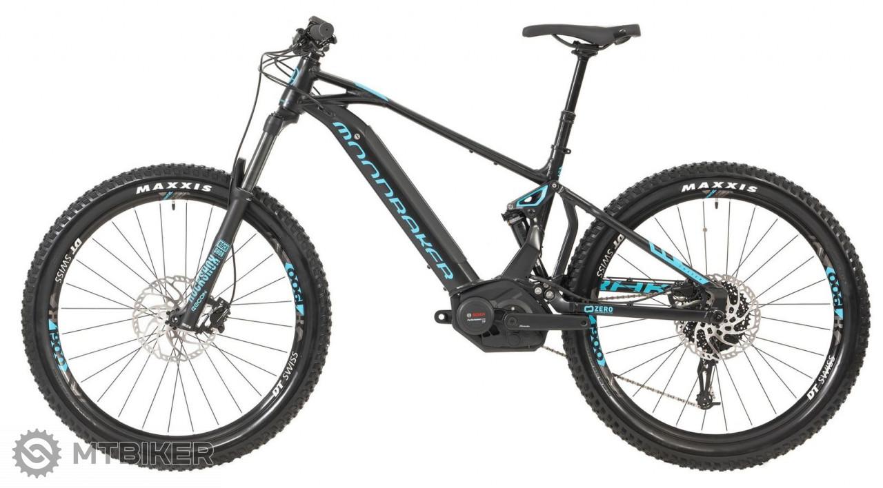 Mondraker horský bicykel CHASER+ 27,5, black/light blue, 2019