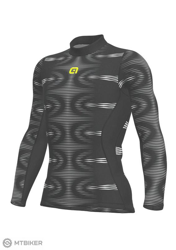 e7cd19ae3 ALÉ SOTTOMAGLIA COIL pánské funkčné tričko dlhý rukáv black/white ...