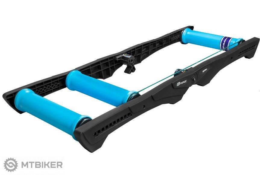 Force Spin tréningové valce plast čierna/modrá