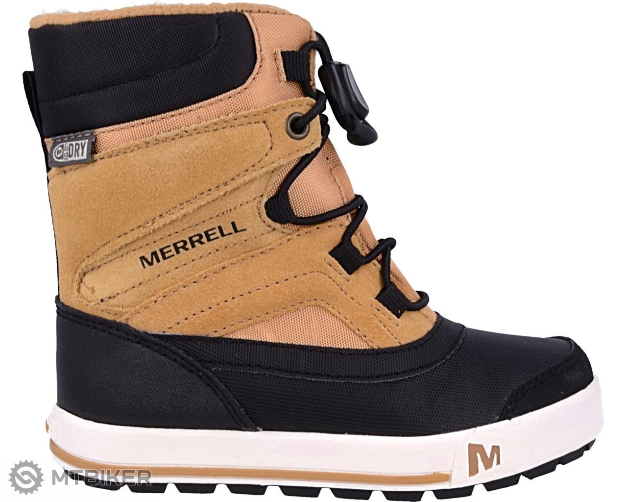 Merrell SNOW BANK 2.0 WTRPF MC56187 dětská obuv wheat black ... 7aa1f78ed27
