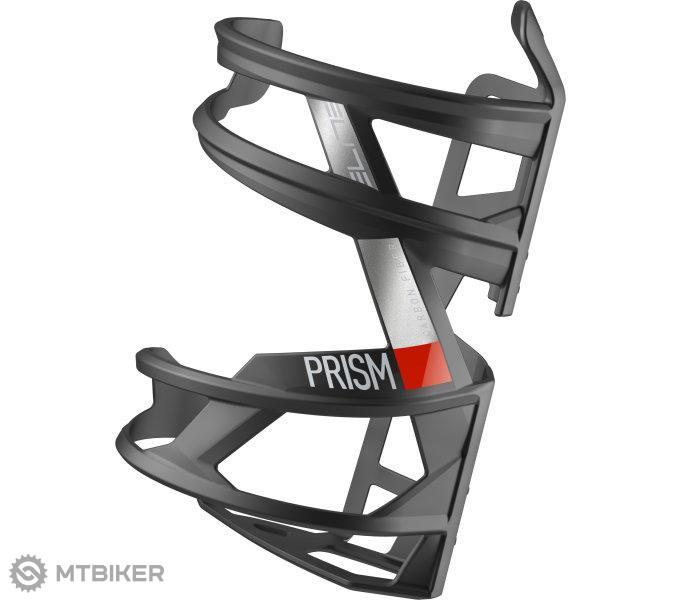 Elite košík PRISM L CARBON čierno/červený matný