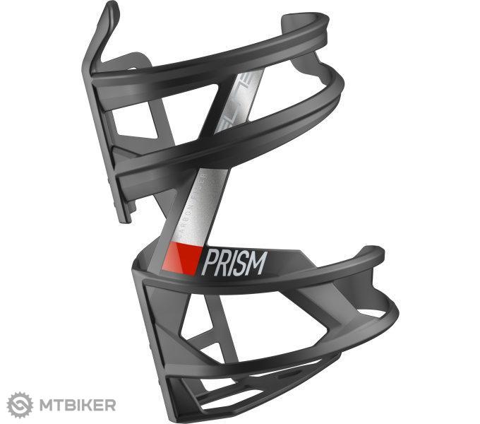 Elite košík PRISM R CARBON čierno/červený matný