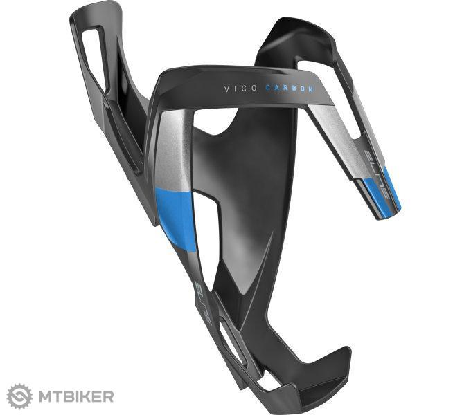 Elite košík VICO CARBON čierno/modrý matný