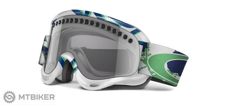 9bac005f1 ... White/Light Grey Oakley O Frame lyžiarske okuliare - Sprayed Blue/Light  Grey ...