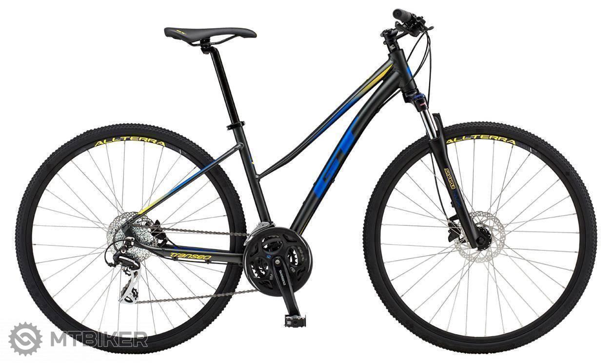 GT Transeo Elite Womens 2019 trekingový bicykel čierny/modrý