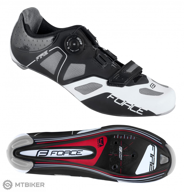 Force Fire Carbon cestné tretry čierne/biele