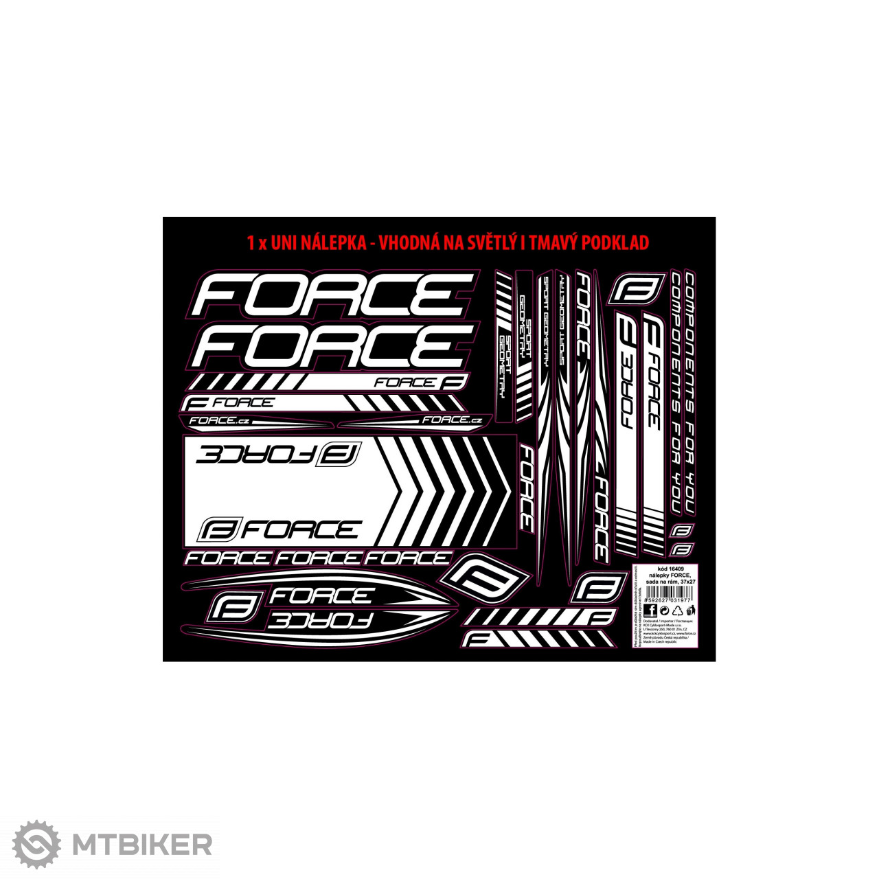 Force nálepky na rám 37x27cm