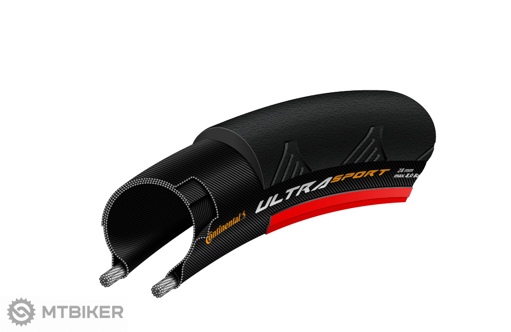 Continental Ultra Sport II čierny/červený 28