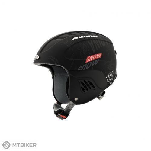 Alpina detská lyžiarska prilba CARAT čierno-červená - MTBIKER Shop 452870ffb1b