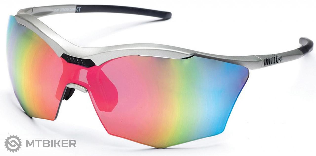 Rh+ slnečné okuliare Ultra Stylus, matt silver/black, smoke flash silver/pink + orange lens