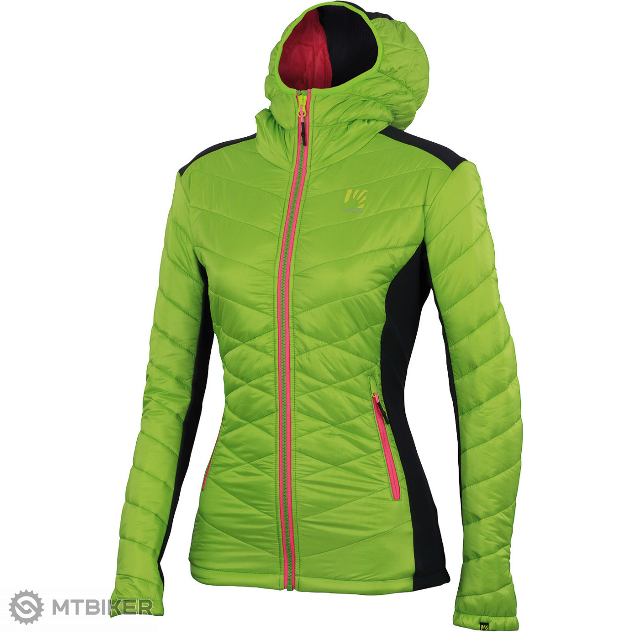Karpos BURELON bunda dámska svetlozelená antracit - MTBIKER Shop 4ca097d1ab3
