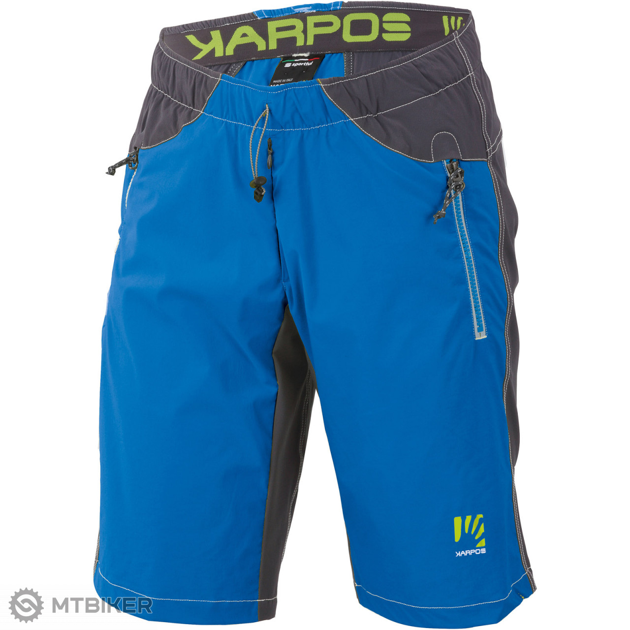 b2887adc56c8 Karpos ROCK Bermudy modré tmavosivé - MTBIKER Shop