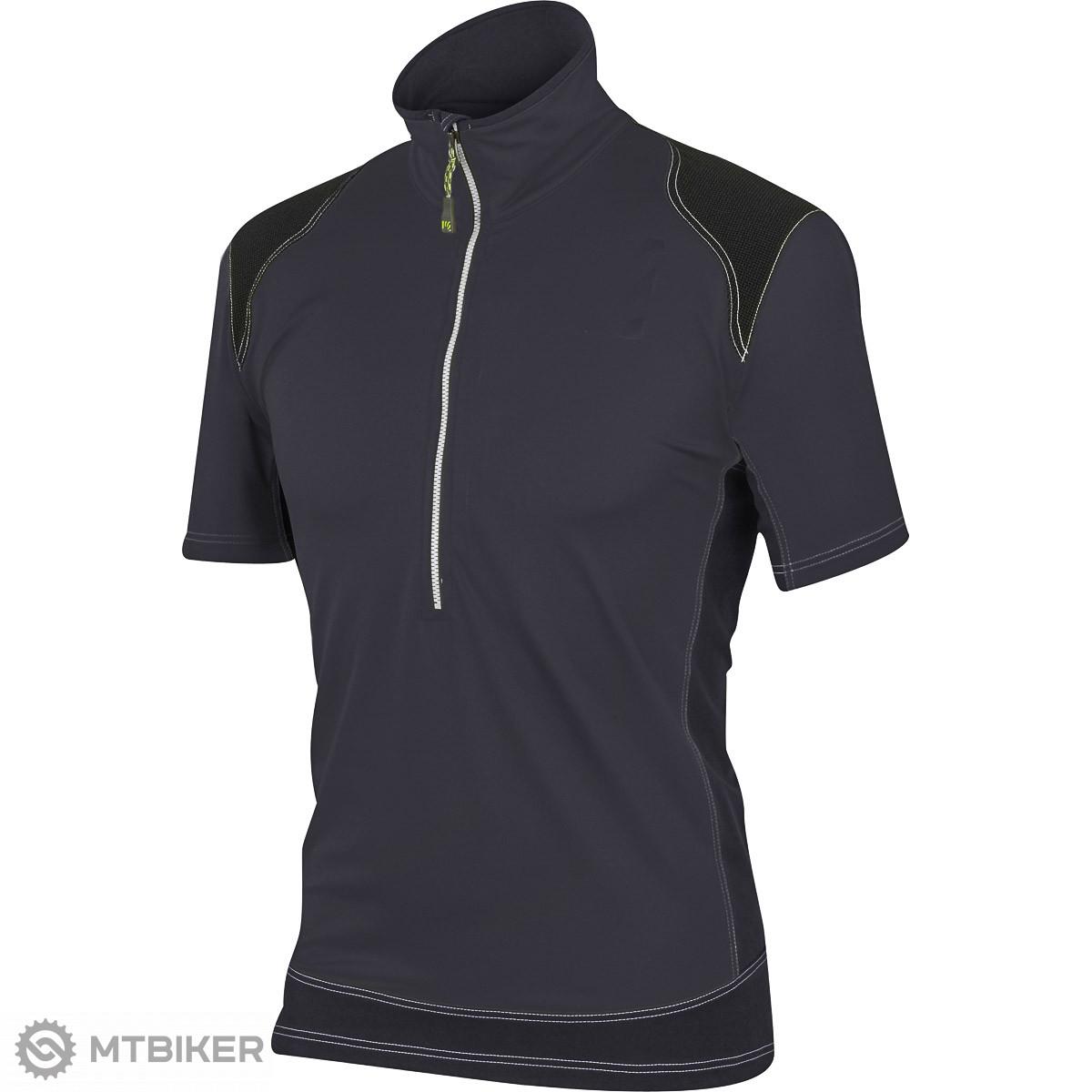 3c83e286d4 Karpos Rock outdoor tričko so zipsom tmavosivé - MTBIKER Shop