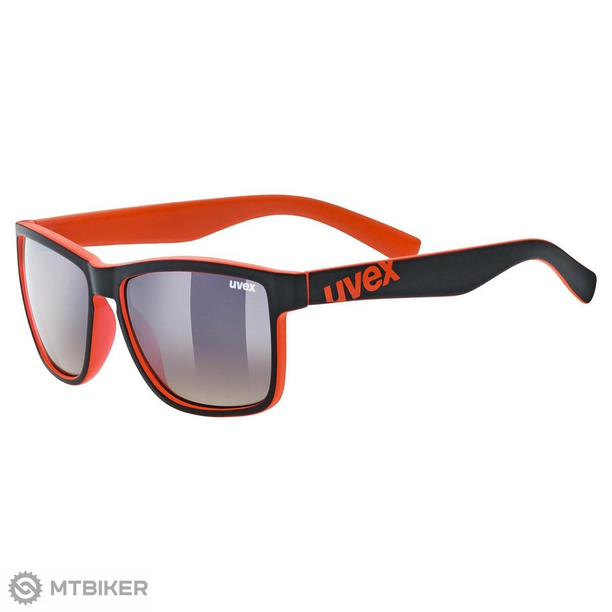 Uvex LGL 39 okuliare Black Mat Red