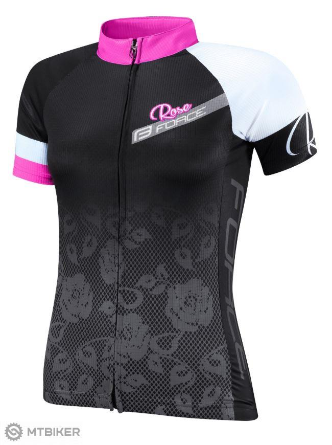 147678eca Force Rose dámsky dres krátky rukáv čierna/ružová - MTBIKER Shop