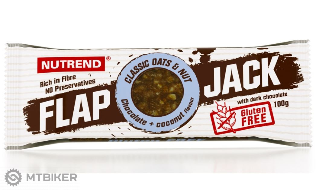 Nutrend Flapjack 100g tyčinka čokoláda / kokos s horkou čokoládou