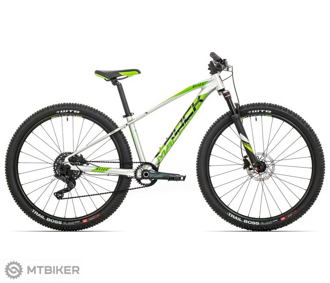 Rock Machine BLIZZ 27 HD LTD, model 2020, strieborná/DVO zelená/čierna