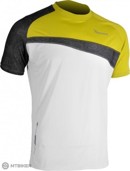 af5c62fbf27e Silvini Coli pánske tričko biela- zelená - MTBIKER Shop