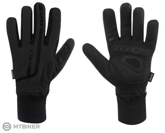 Force X72 zimné rukavice čierna