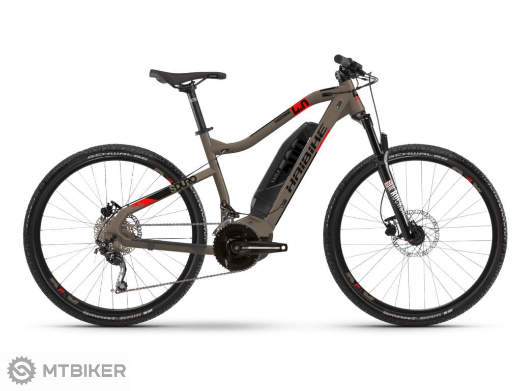 Haibike SDURO HardNine 4.0 500Wh piesková / červená / čierna, model 2020