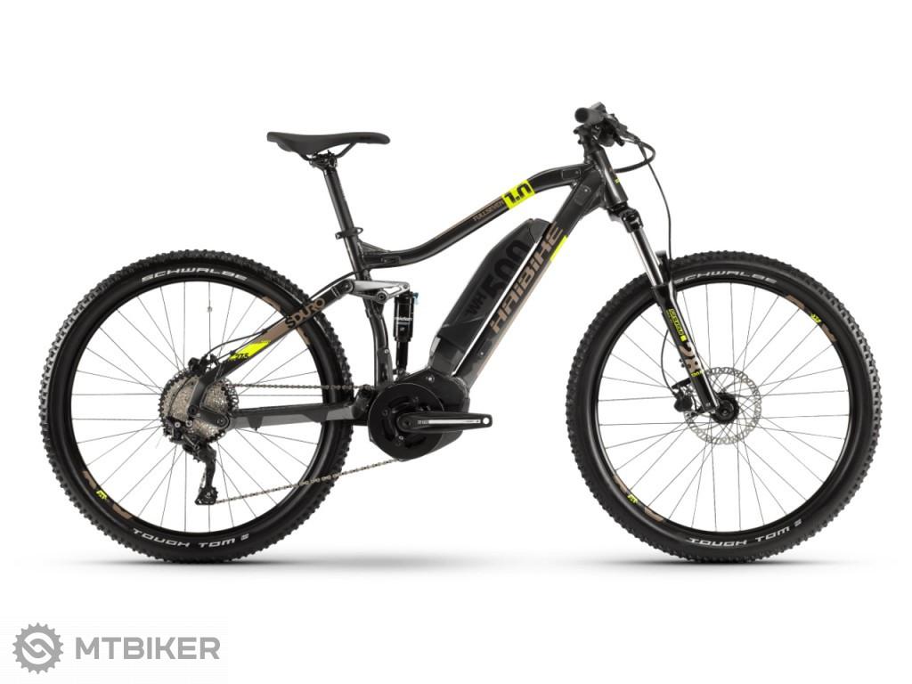 Haibike SDURO FullSeven 1.0 500Wh antracitová / lime / piesková, model 2020