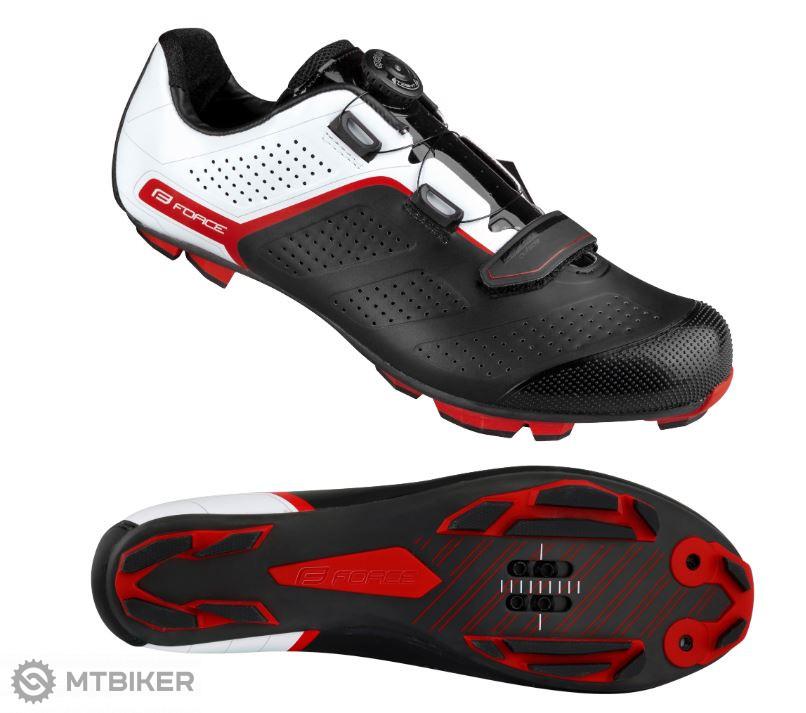 Tretry Force MTB Carbon Devil Pro, čierno-bielo-červené