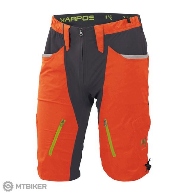 4b5653d9e6f95 Sportful Karpos Casatsch Baggy MTB kraťasy oranžové - MTBIKER Shop