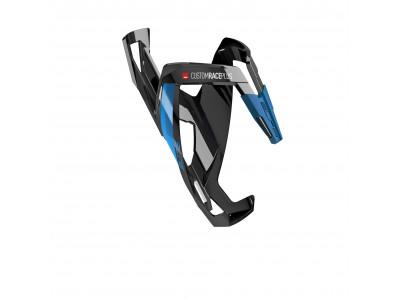 Elite košík CUSTOM RACE PLUS - Čierno-modrý, lesklý