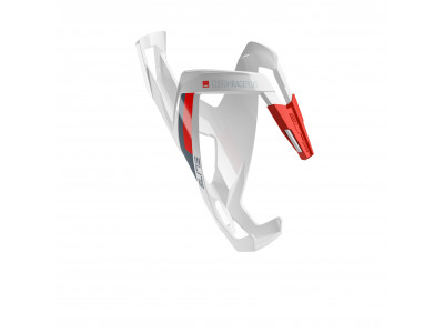 Elite košík CUSTOM RACE PLUS - Bielo-červený, lesklý