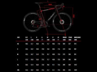 Wilier cestný bicykel Cento1NDR Disc 105 RS170, model 2020, červený