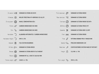 Wilier Cento10 Hybrid Ultegra.Di2 NDR 30, model 2020, čierny