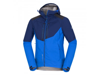 NORTHFINDER pánska bunda outdorová  softshell all-weather 3L BROSDY - VEĽKOSŤ: 2XL, FARBA: blueblue