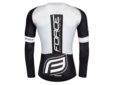 Force F Team Pro Plus pánsky dres dlhý rukáv čierno/biely