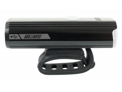 ROCK MACHINE svetlo predné F.Light 40 USB 650 lm čierne