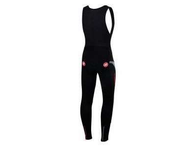 Castelli POLARE 2 nohavice na traky, čierna/červená
