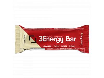 Kompava 3Energy bar 40 g/1 ks - jahoda/jogurtová poleva
