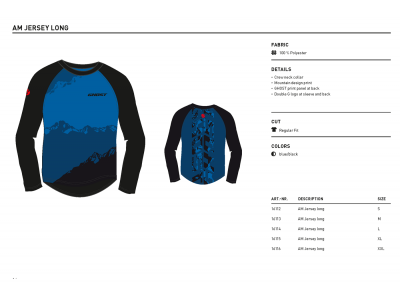 Ghost Séria AM ➜ Dres AM dlhý rukáv modrý, model 2016