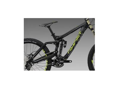 Rám Ghost DH 7000 čierna/lime zelená/ sivá, model 2013