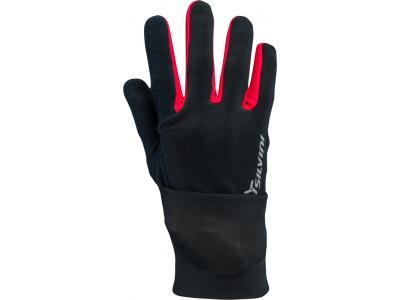 Silvini Isonzo zimné unisex rukavice čierne/červené