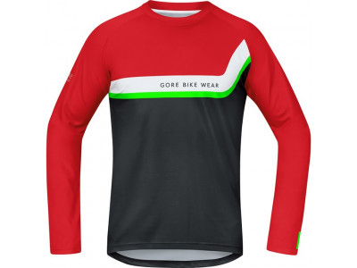 GORE Power Trail Jersey long - red/black